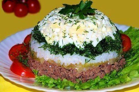 Салат из куриной печени оригинальный
