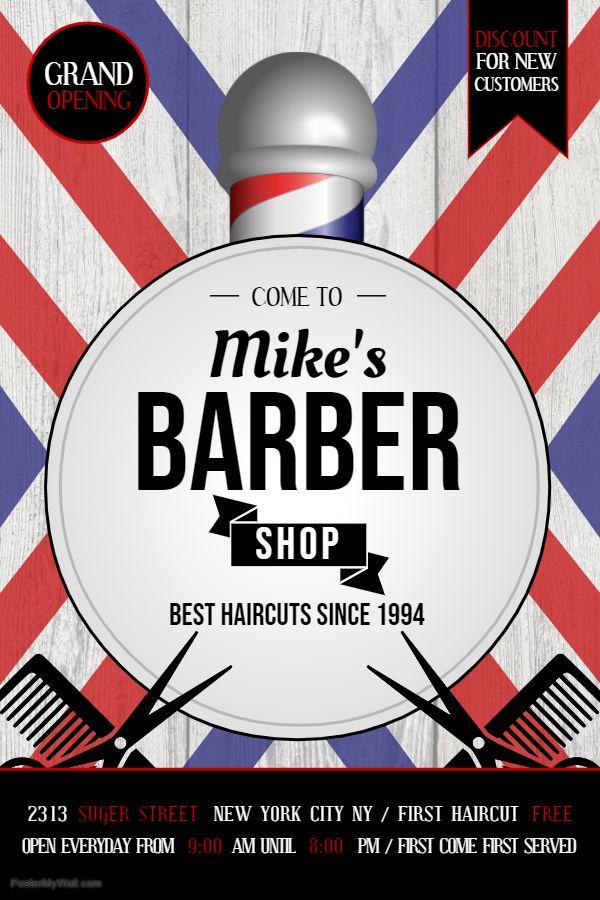 Men S Barber Shop Advertisement Flyer Poster Template Barber Shop Flyer Barber