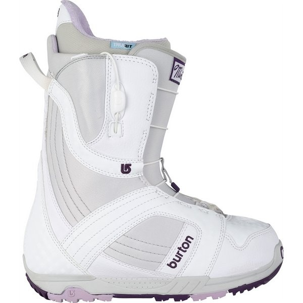 On Sale Burton Mint Snowboard Boots White/Gray/Purple - Womens up to 40% off