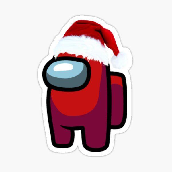 Among Us Christmas Sticker By Stickersbycayc Redbubble Christmas Stickers Wallpaper Iphone Christmas Wallpaper Iphone Cute