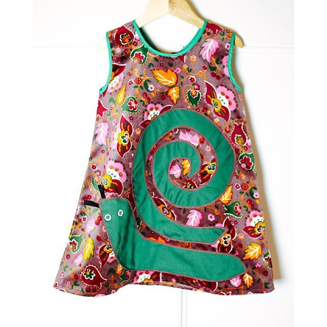 Girl's Appliqué Cotton Dress. Handmade using vintage European fabrics by Zooms Fabrica