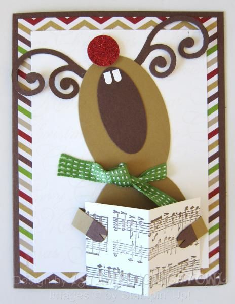 SUO - Singing Reindeer by 1stampingnightowl - Cards and Paper Crafts at Splitcoaststampers
