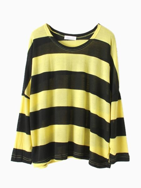 Black And Yellow Stripe T-shirt