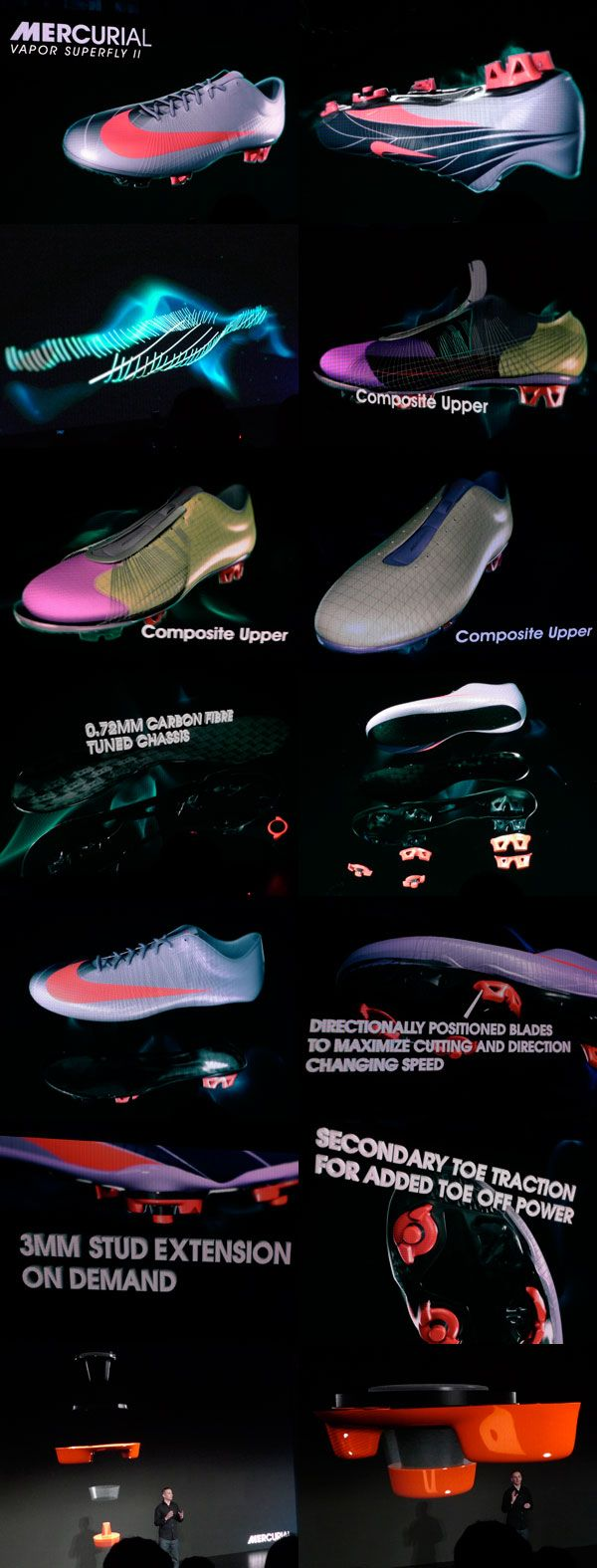 Nike mercurial vapor superfly II - Features