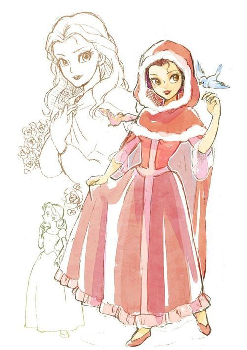 Belle - Beauty and the Beast - winter cloak