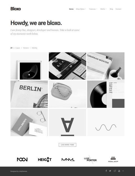 Bloxo - Minimal Freelancer Agency WordPress Theme. Download: http://themeforest.net/item/bloxo-minimal-freelancer-agency-wordpress-theme/9946845?ref=skarin