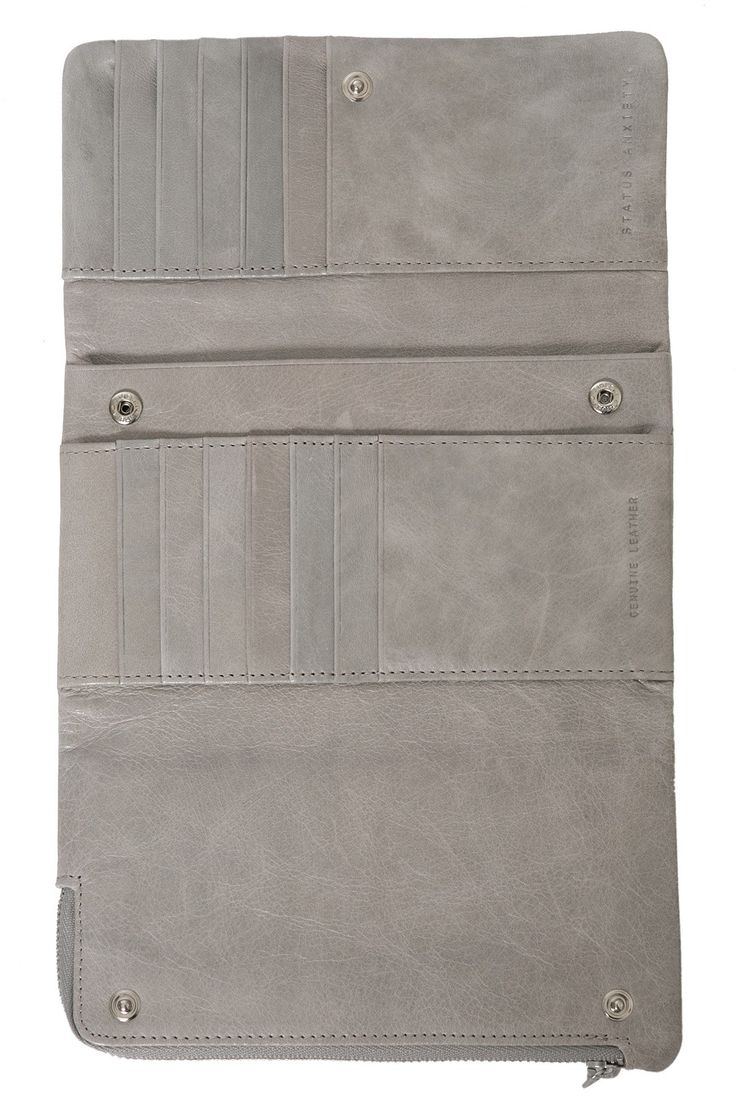 STATUS ANXIETY Audrey Wallet Grey