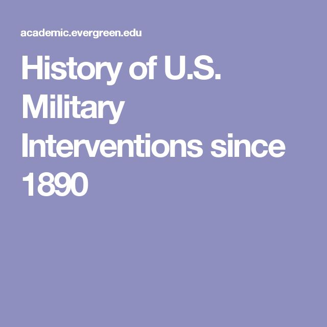 History of U.S. Military Interventions since 1890