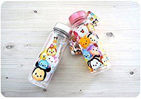 (ディズニー) Disney ツムツム 子供用 キッズ 水筒 ボトル/ 韓国生産 / ディズニー 正品 / Tsum Tsum Basic Water Bottle シルバー [並行輸入品]