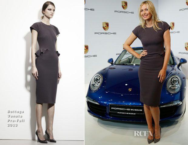 Maria Sharapova In Bottega Veneta - Porsche Presents New Testimonial