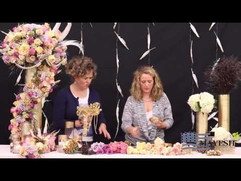 Inspired Floral Design With Beth O'Reilly: Framed Floral Sculpture - YouTube