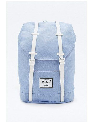 Herschel Supply co. Retreat Chambray Backpack in Blue http://sellektor.com/plecaki/strona-11?order=newest