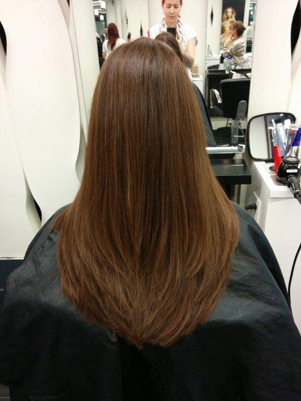 Razor cut, long layers, subtle, long hair, my work