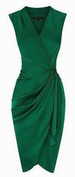 Vestido verde bandeira
