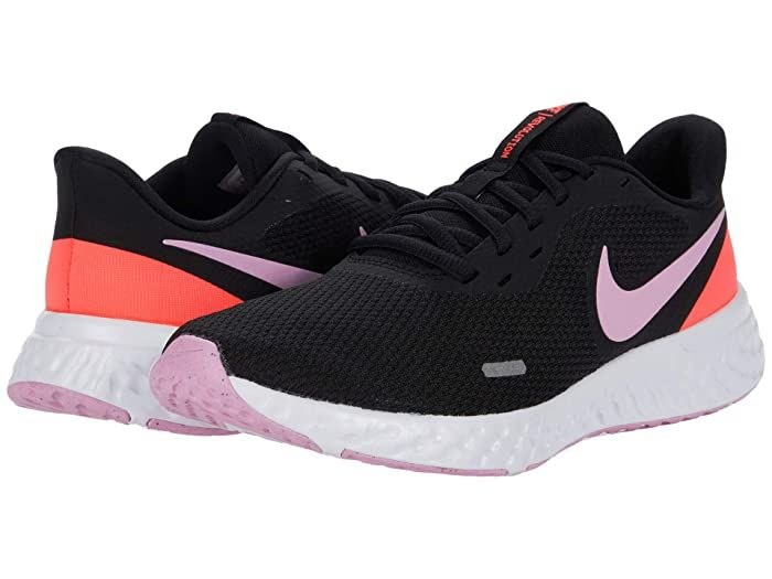 Nike Revolution 5 Black Beyond Pink Flash Crimson Women S Running Shoes Find Your Way Along The Track With The In 2020 Womens Running Shoes Black Running Shoes Nike