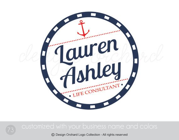 Life Consultant Logo Nautical Theme Logo Coach by DesignOrchard