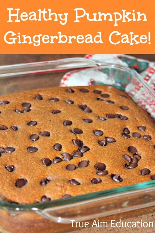 Healthy Pumpkin Gingerbread Cake, gluten free, paleo, and so easy! You could even leave the sweetener out and it would still be good.