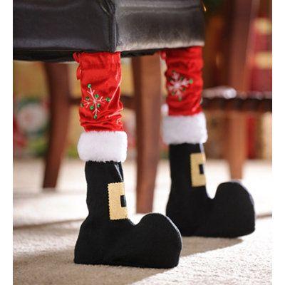 Santa Boot Chair Leg Cover, Set of 2