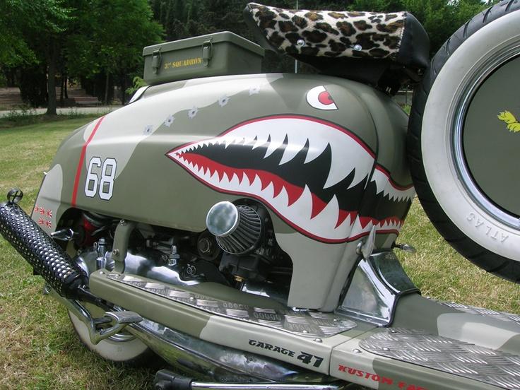 RETRO SCOOTER GARAGE: Vespa and Lambretta John Deere Curtiss