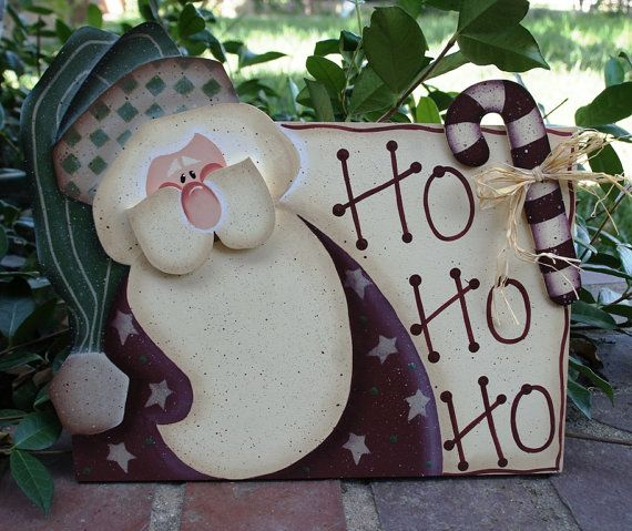 Christmas Santa Yard Stake Wood Sign Decoration by Cherables