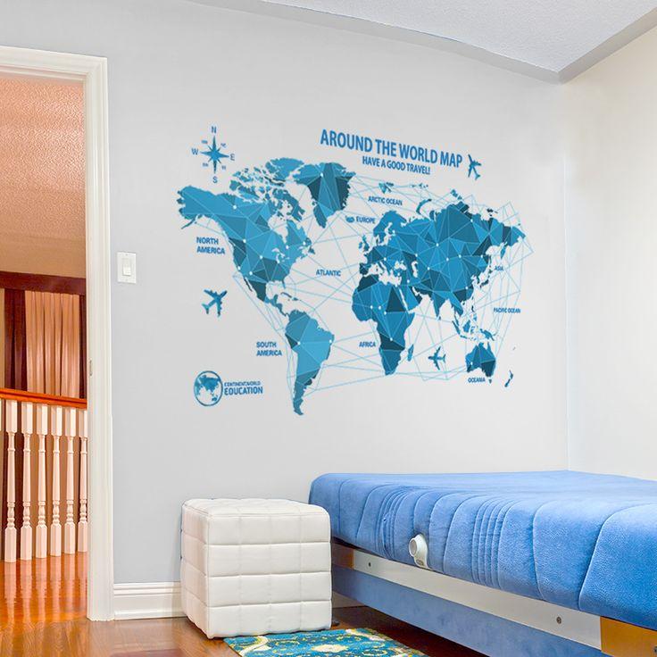 Компаний-Классе-Технологии-Украшения-Карта-Мира-Стены-Стикеры-Muraux-DIY-Обои-Домашнего-Декора-Поставок-Искусства-Наклейки.jpg (800×800)
