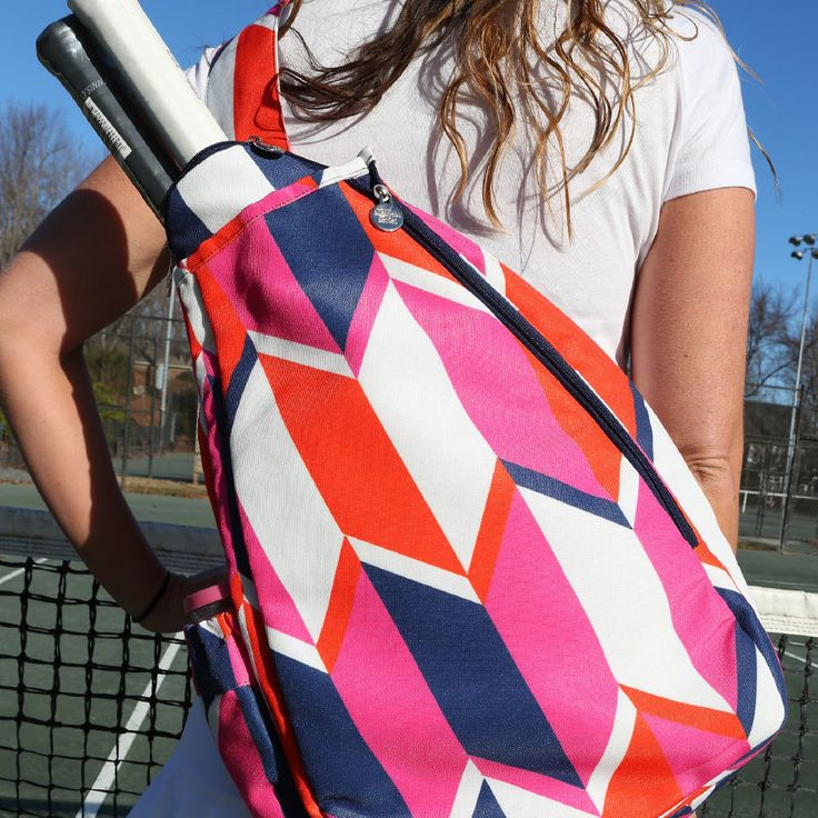 love means nothing to a tennis player - except when it comes to their bag! you will love betties poly-canvas tennis backpack! it has a compartment to hold up to 2 rackets, and another for a change of
