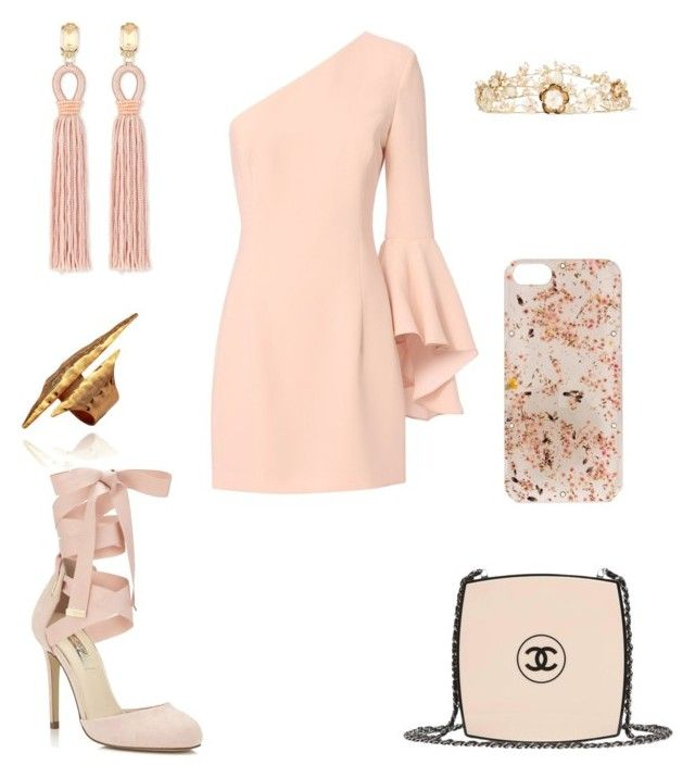 """Untitled #1091"" by wali-emna ❤ liked on Polyvore featuring Exclusive for Intermix, Oscar de la Renta, Miss Selfridge, Chanel, Anrealage and Rosantica"