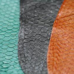 Glazed Tilapia Fish Leather