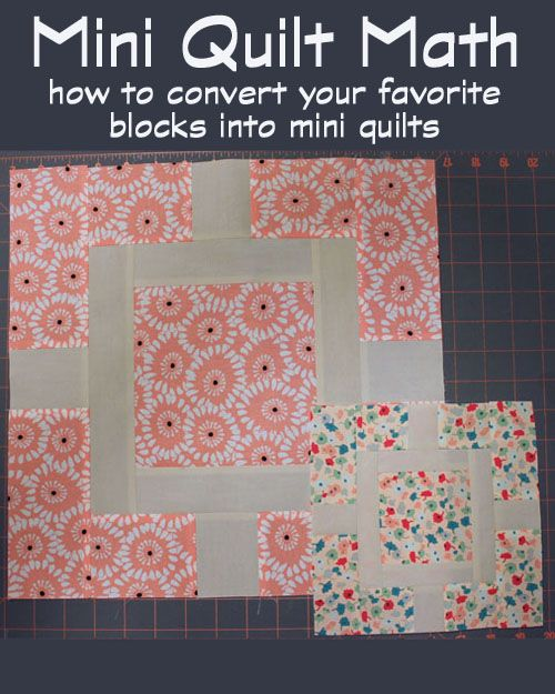 Mini Quilt Math - Always Expect Moore ~ Links to a two part article that explains math involved in shrinking your favorite blocks to mini size! The possibilities are endless with thousands of fabrics to choose from at http://www.fabricshack.com/cgi-bin/Store/store.cgi