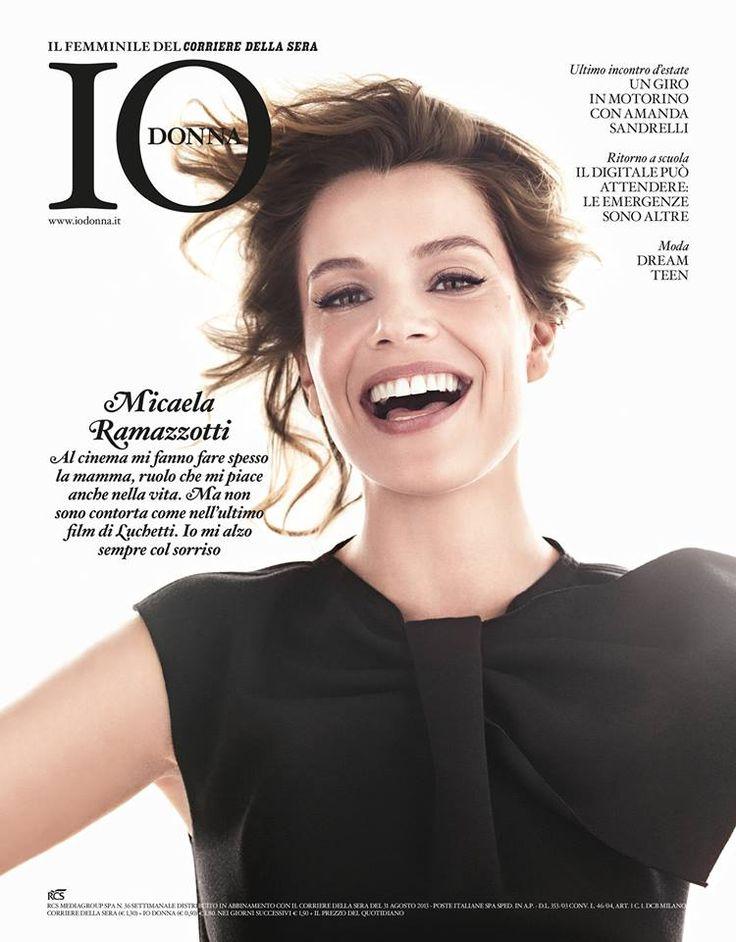 Micaela Ramazzotti in Emporio #Armani on the cover of Io Donna