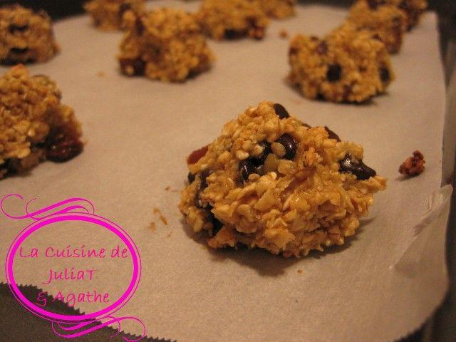 De délicieux petits biscuits allégés et minceur. Tendres et moelleux. Faits de flocons d'avoine et de chocolat principalement, ils sont gourmands et santé