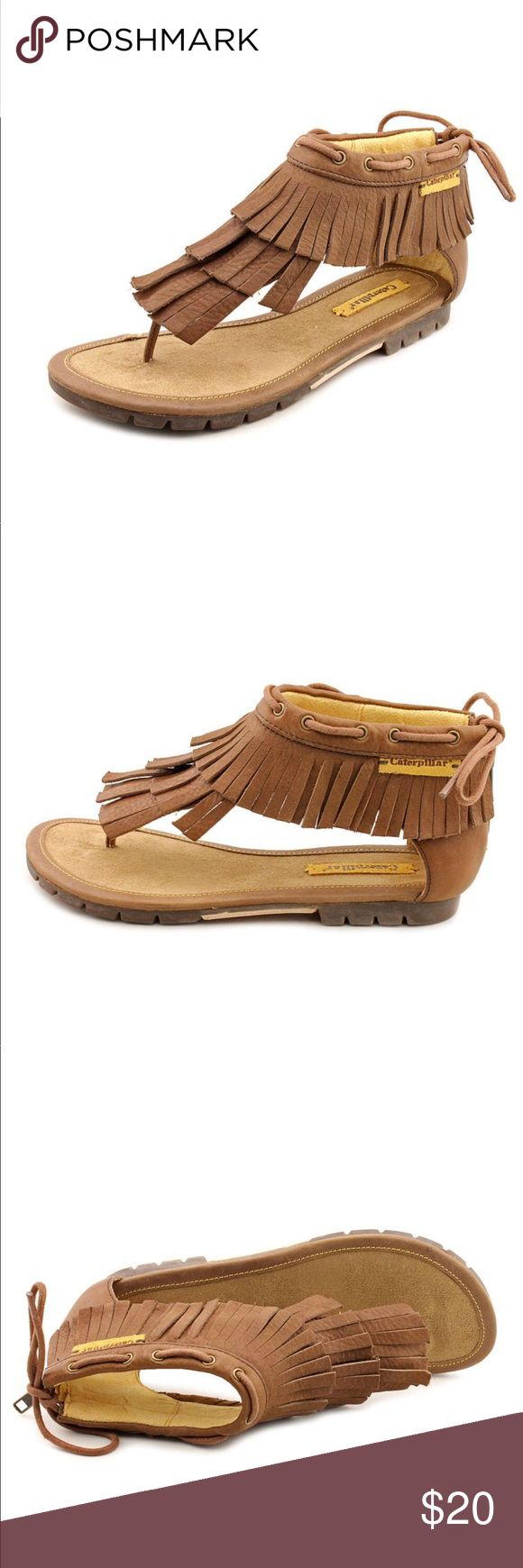 Caterpillar | leather fringe sandals Shoes have a small scuff mark on one edge (see pictures ) otherwise in good condition. Size 9 Caterpillar Shoes Sandals