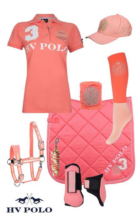 Hv Polo Favouritas Coral Pink   #hvpolo #summer17 #horsefashion #epplejeck #favouritas