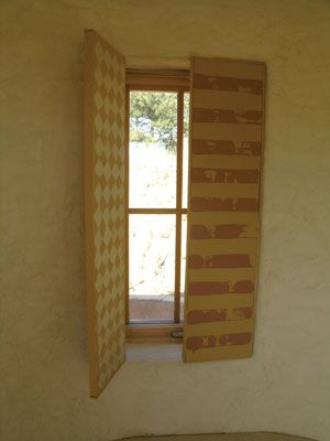 Try this build your own interior shutters and increase for Window r value