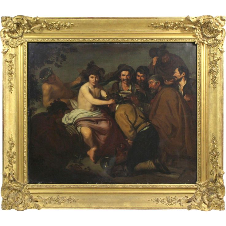 The Triumph od Bacchus, 19th Century, oil on canvas, copy of Diego Velázquez