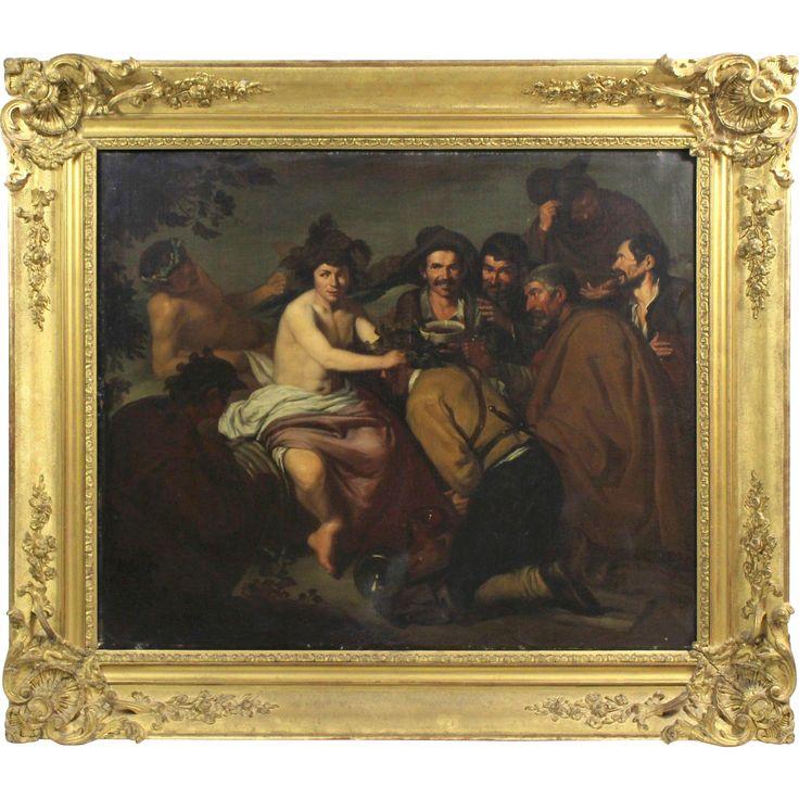 The Triumph od Bacchus, 19th Century, oil on canvas, copy of Diego Velázquez