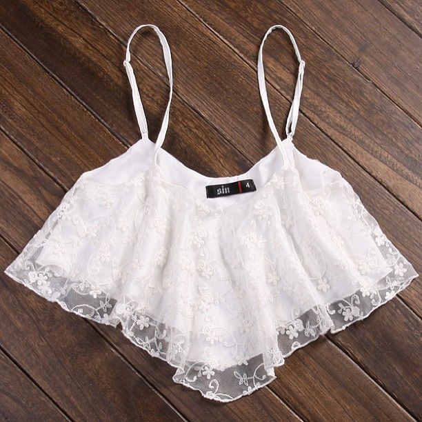Lace crop top<3... i would not really wear that though!