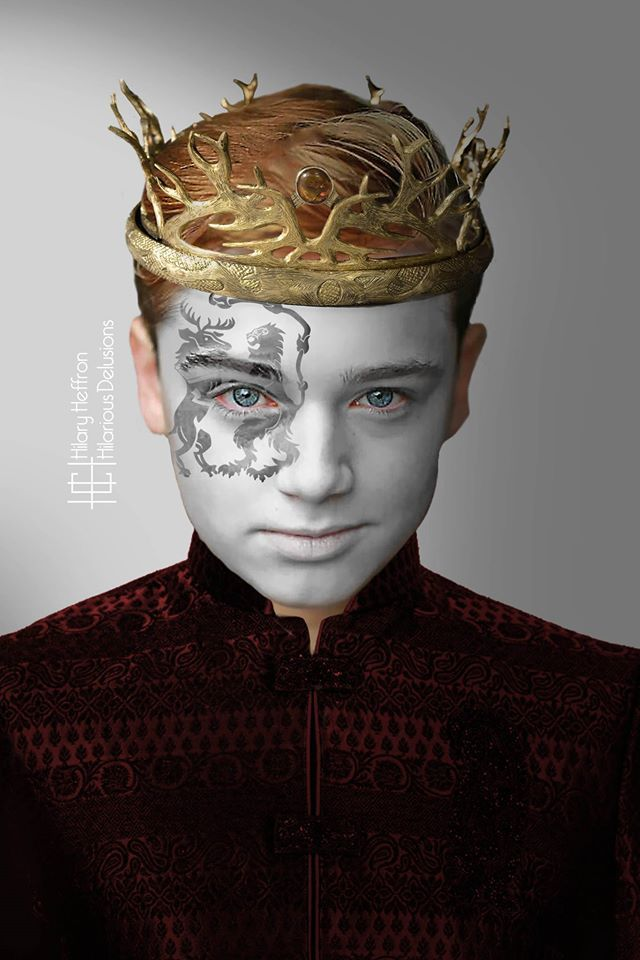 King Tommen Baratheon | Game of Thrones War Paint by Hilary Heffron - Hilarious Delusions