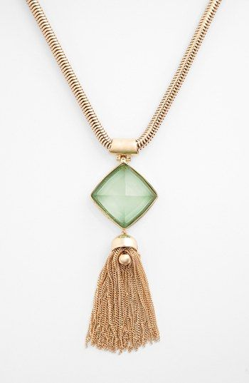 Anne Klein Tassel Pendant Necklace available at #Nordstrom