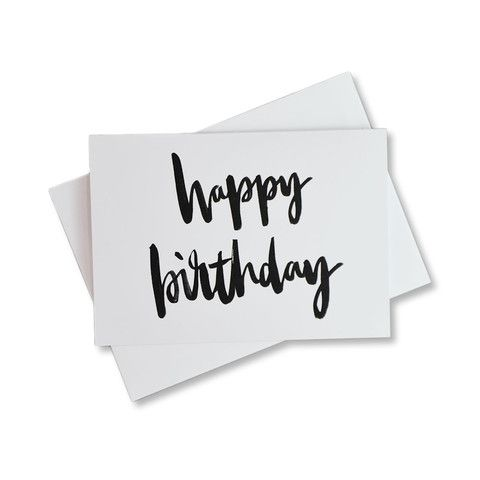 Happy Birthday Card by Antipodean Love designed by @goldlinejournal #typography #brushlettering #font #type