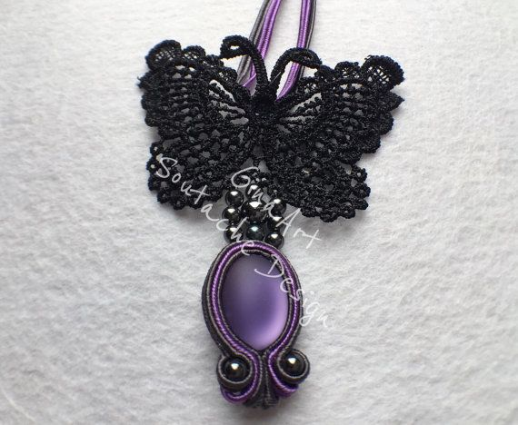 Butterfly's dream soutache neklace