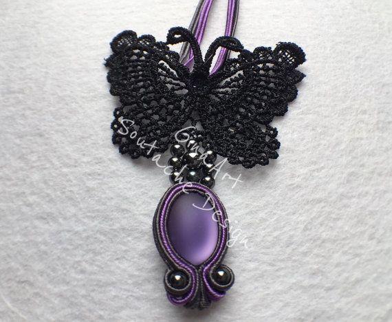 Butterfly's dream soutache neklace