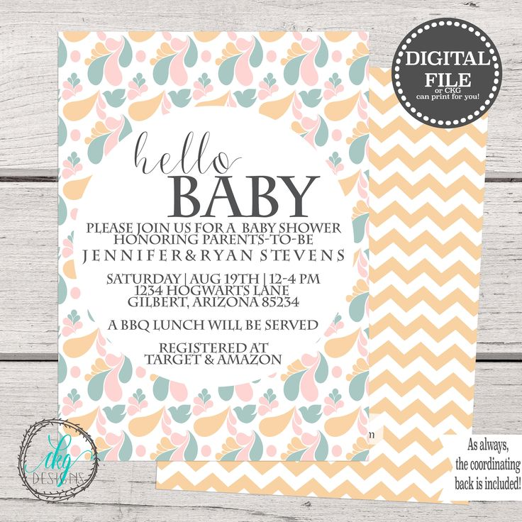 109 best Baby Shower Invitation images on Pinterest | Shower ...