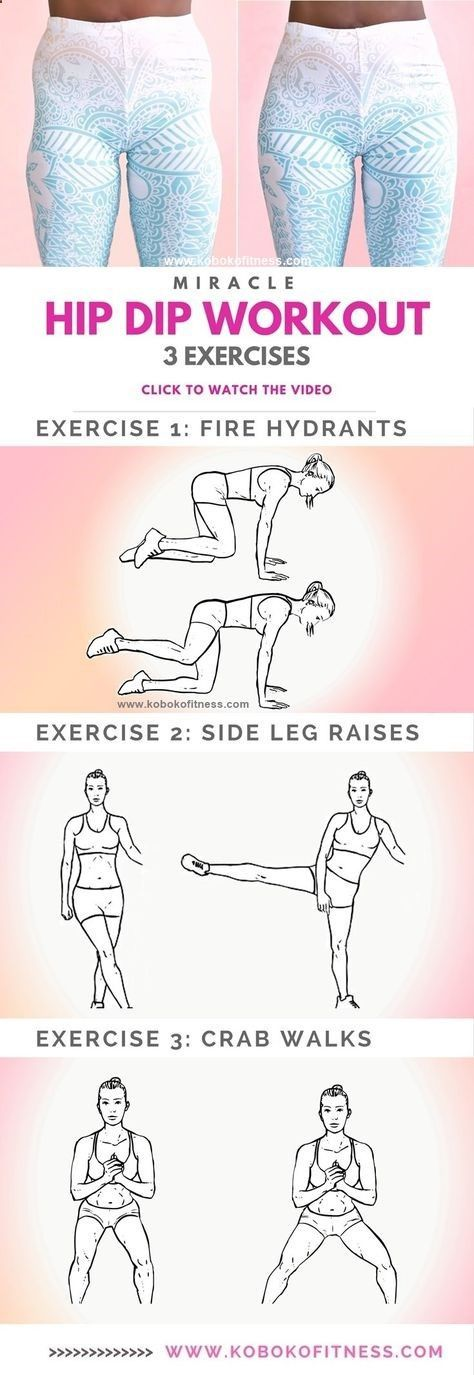 Learn the 10 Minute Wider Hips Workout to Fix Hip Dips-The best hip dip workout exercises with full workout video that is easy to follow. Add this to your butt workout for wider hips and an hour glass figure