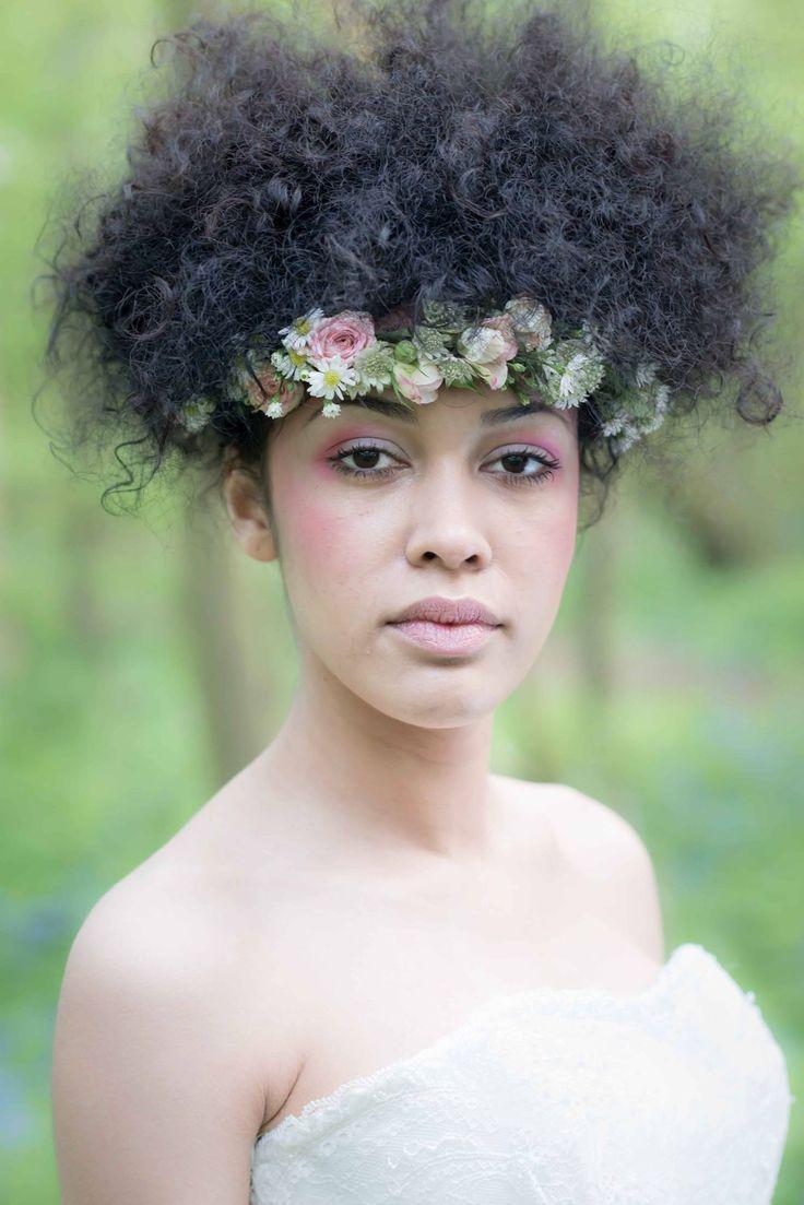 Flowers in her hair flower crown