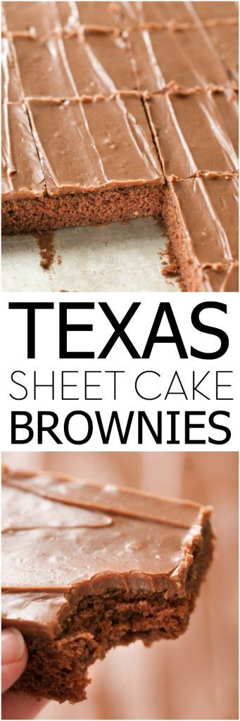 Texas Sheet Cake Brownies – Six Sisters' Stuff