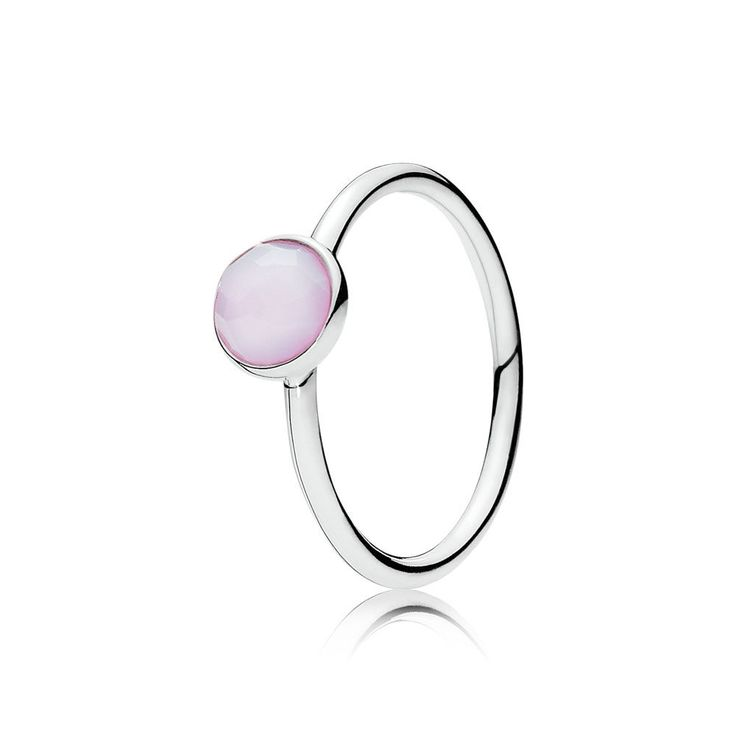 October Droplet, Opalescent Pink Crystal | PANDORA Jewelry U