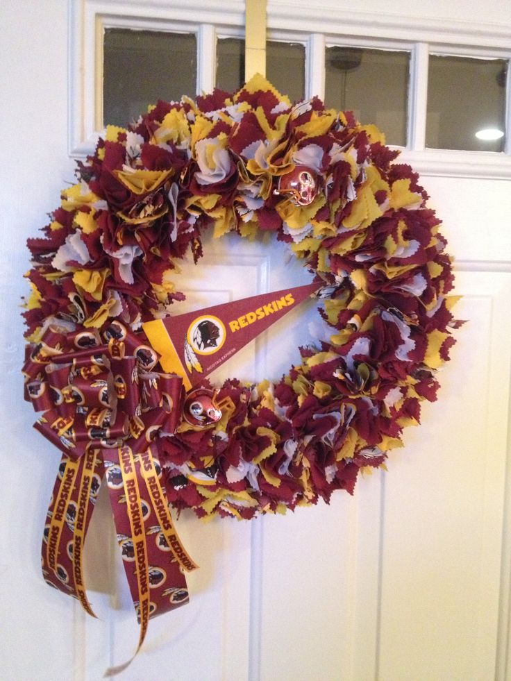 Redskins Wreath. HTTR!