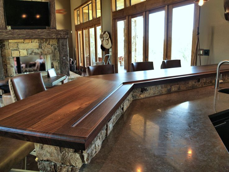 Devos Custom Woodworking Slab Walnut Wood Countertop