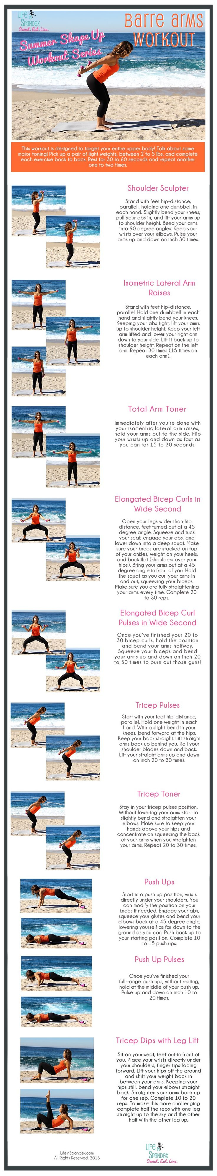 Life in Spandex Summer Shape Up Workout Series #workoutwednesday Barre Arms Workout
